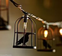 Cage Crow Lights Halloween Decor String Mantel Stairs ...