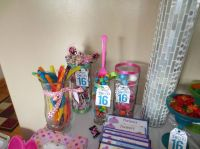 Sweet 16 candy table | Allie's Sweet 16 Candy Theme ...