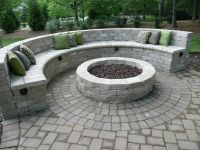 Semi-circle Seating Around Fire Pit | Home remodel | Pinterest