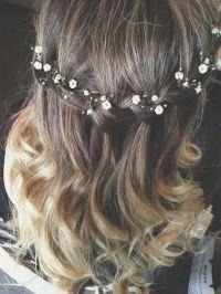 Beautiful bridesmaid hair | waterfall braid | wedding hair ...