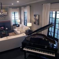 Living Room Grand Piano Design | Dream house | Pinterest