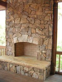 Stone fireplace idea | Decor Ideas | Pinterest