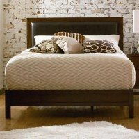 leather/wood headboard | Furniture Love | Pinterest