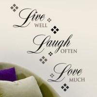 Live, Love, Laugh Wall Decal   Art   Pinterest