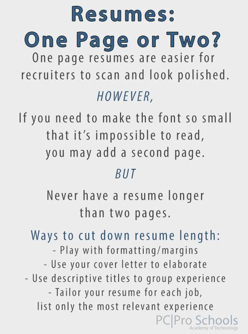 Resume Service For The Military  Resume Page Length