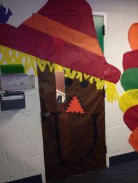 Scarecrow fall door decorations | Class Room Decor Ideas ...