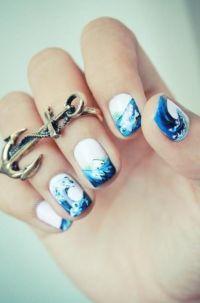 Ocean nail design