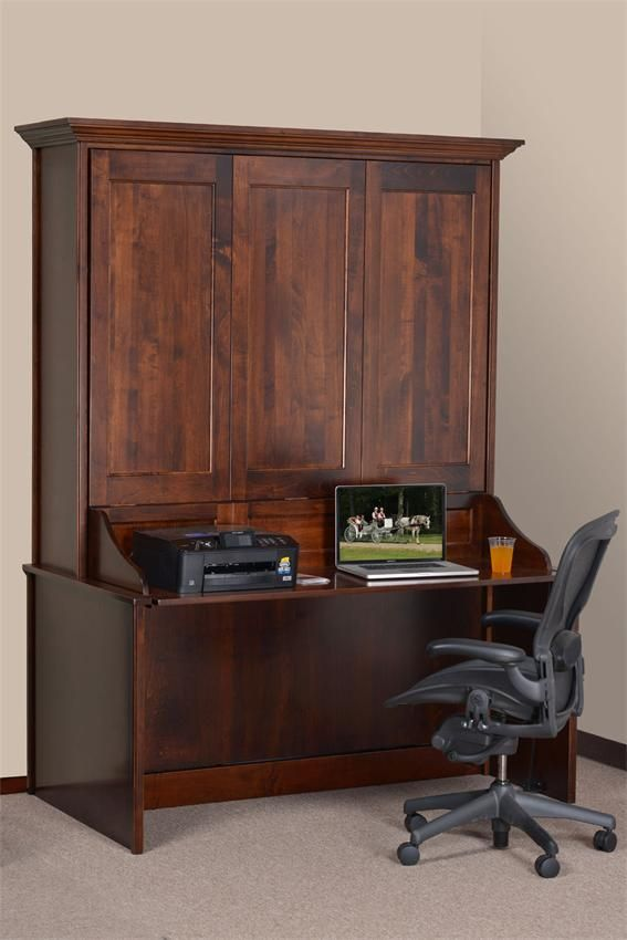 Murphy Bed Desk Amish Vertical Wall Murphy Bed With Desk