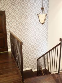 Wallpaper by Aronel, on staircase wall | EcoBungalow-LA ...