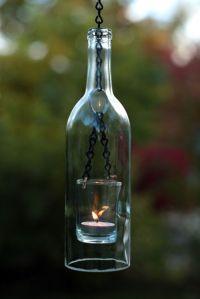 Wine bottle candle holder   DIY/Crafts   Pinterest