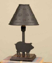 New Primitive Country Farmhouse PIG LAMP Night Light ...