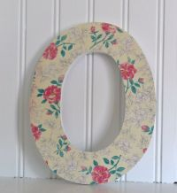Decorative Letters: Shabby Chic floral MDF decoupage ...