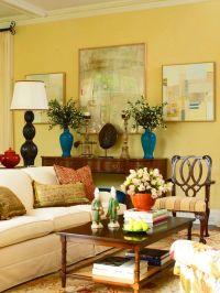 helenmckees  beautiful yellow living room....love the ...