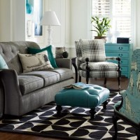 gray and turquoise living room | Timeless Turquoise ...