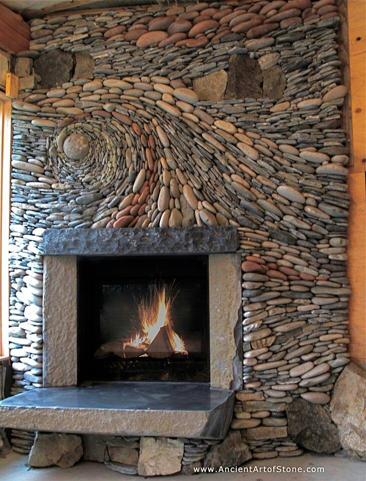 Feuerstelle Naturstein Natural Stone Fireplace | Fireplaces | Pinterest