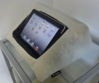 iPad Cushion Pillow Stand Holder. iCushion Velvet White