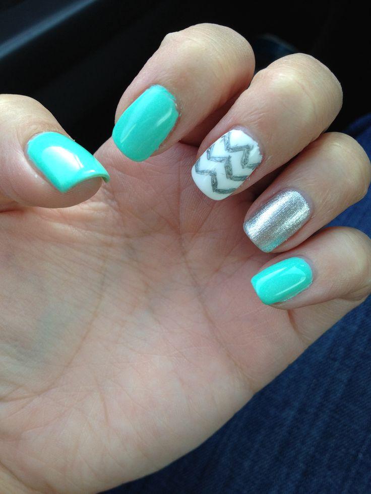 Turquoise Nails! Nail Designs / Pretty Polishes Pinterest