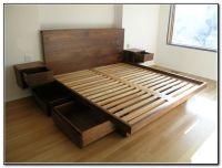 Diy Bed Frame With Storage Drawers | For the Home | Pinterest