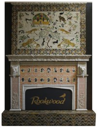 A contemporary Rookwood tile fireplace | Cincinnati My ...