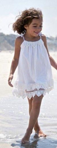 white beach dress   {Style} little girl clothes   Pinterest