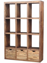 wood open bookcase room divider loft decor