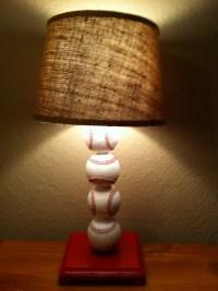 DIY Baseball Lamp | for the grandkids | Pinterest