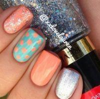 Polka dots nail design   Nails   Pinterest