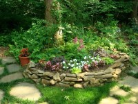 shaded rock garden | The Yard | Pinterest
