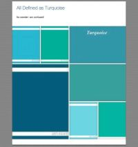 All shades of turquoise | Color 07 Turquois - Aqua | Pinterest