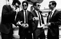 groomsmen - black suits, skinny ties | alicetiara + harryh ...