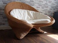 Rattan lotus meditation chair