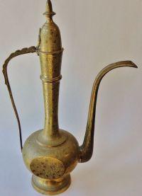 Tall Vintage Brass Genie Lamp/ Vase/ Tea Pot/ Pitcher ...