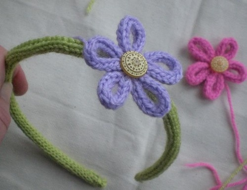French Knitting Flowers : Things to do with french knitting domesblissity