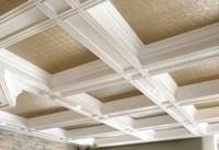 Blanc White coffer tin ceiling   Kitchen ideas   Pinterest