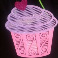Cupcake earring holder from Claire's