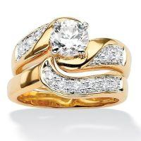 Bridal Sets: Gold Plated Cubic Zirconia Bridal Sets