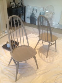 ercol chairs ive painted | Coffee shop | Pinterest