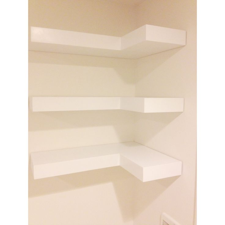 White Floating Shelves White Floating Corner Shelves. Set Of Three
