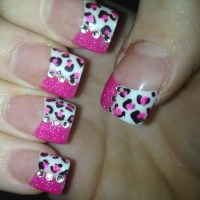 Cheetah Print Nails Pink