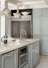 Gray blue kitchen cabinets   Kitchen   Pinterest