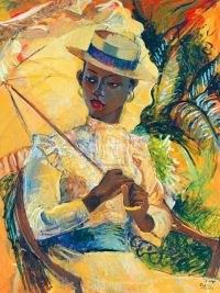 Boater Hat With Parasol by Boscoe Holder | Bumper-shots ...