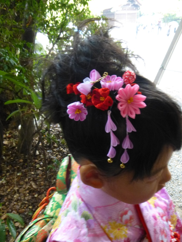 Kimono hair japan pinterest