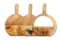 Space Saving Wooden Paper Plate Holder with Wood Burnt ...