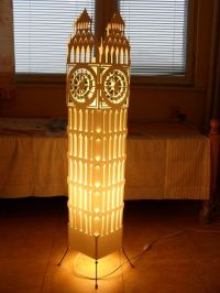 Big ben clock tower/ Floor lamp/ Lampshade/ Free Shipping ...