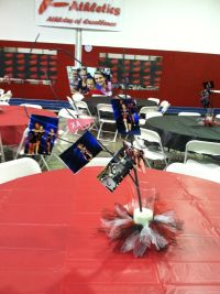 Cheerleading Banquet Table Decorations Photograph   Athletic