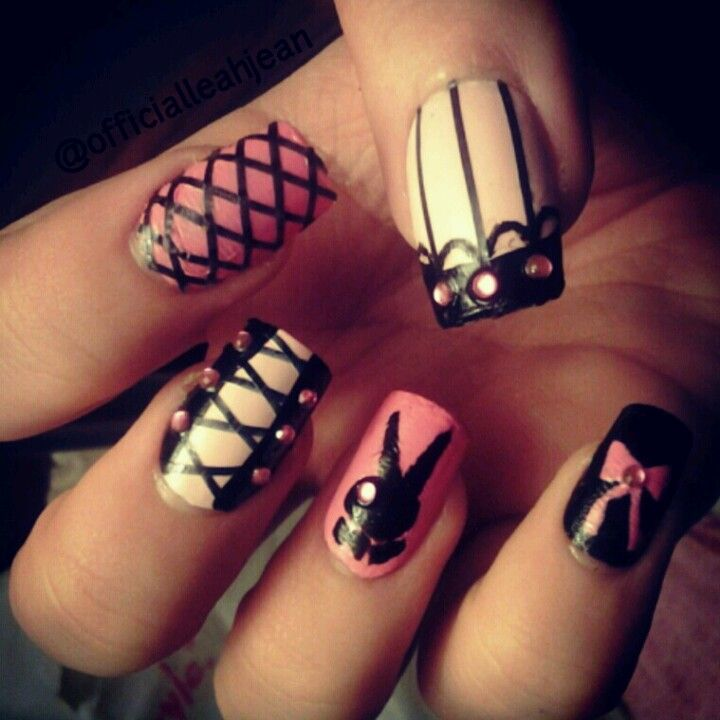 Playboy nails! #nailart follow me on instagram for more