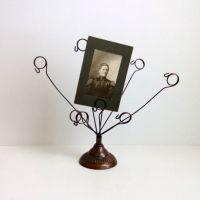 Bronze metal photo holder