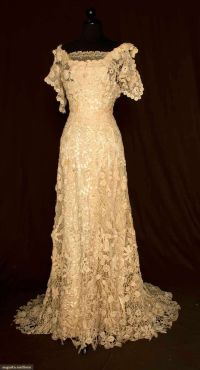 1908 Irish lace dress | CROCHET IRISH & IRLANDES | Pinterest