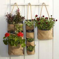 Hanging Bag Planters | In the Garden | Pinterest