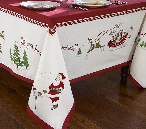 Tischdecken Weihnachten Christmas Tablecloth | Pottery Barn Kids | Christmas
